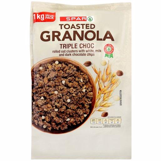 SPAR GRANOLA TRIPLE CHOC 1KG