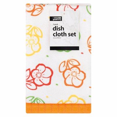 G/L DISH CLOTHS MICROFIBR 2'S