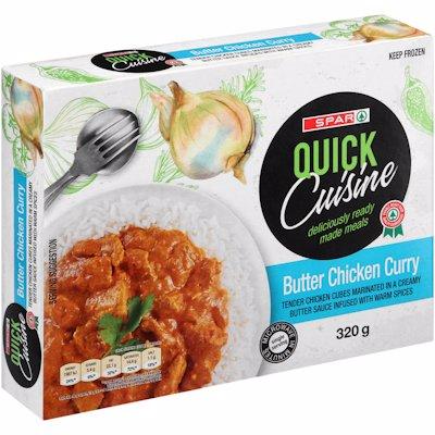 SPAR QUICK CUISINE BUTTER CHICKEN CURRY 320G