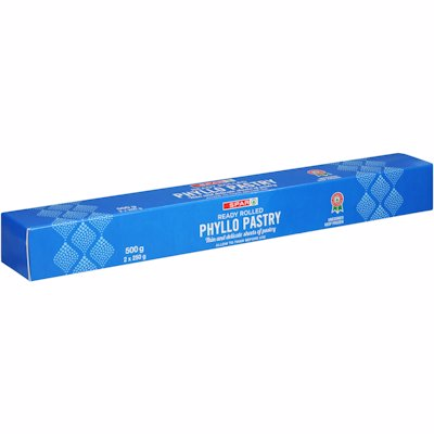 SPAR READY ROLLED PHYLLO PASTRY 500G