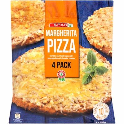 SPAR MARGHERITA PIZZA 4 PACK