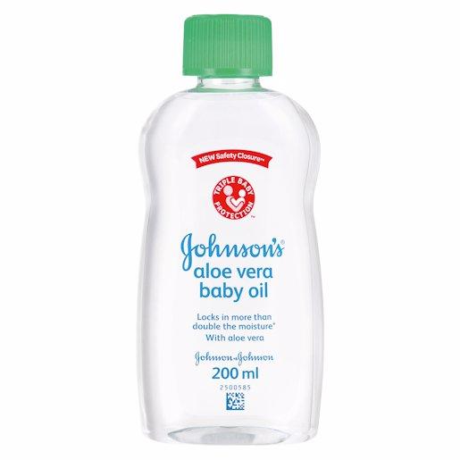 J&J BABY OIL ALOE VERA 200ML