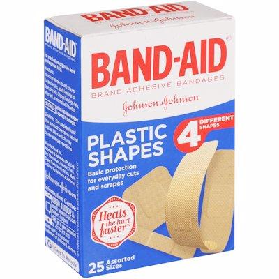 BAND AID PLASTIC SHAPES 25'S