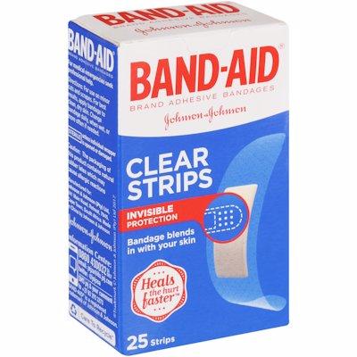 BAND AID STRIP CLEAR 25'S