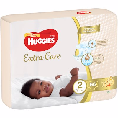 HUGGIES NEW BABY 2 66'S