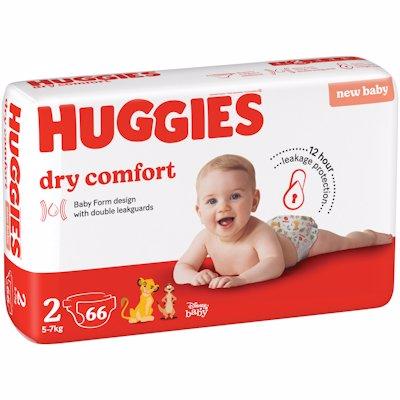 HUGGIES DRY COMFORT  VALUE PACK MINI 2 66'S