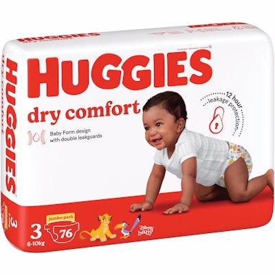 HUGGIES DRY COMFORT JUMBO PACK MIDI 3 76'S