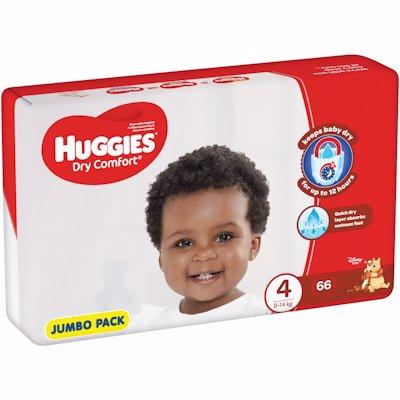 HUGGIES DRY COMFORT JUMBO PACK MAXI 4 66'S