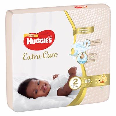 HUGGIES EX CARE N/BABY 2 80'S