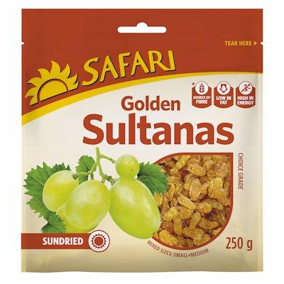 SAFARI SUNDRIED GOLDEN SULTANA CHOICE GRADE 250G