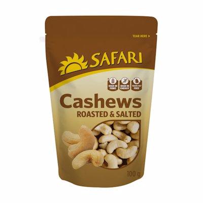 SAFARI CASHEWS ROAST & SALTED 100GR