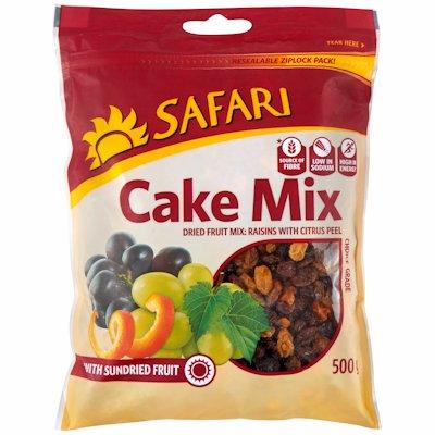 SAFARI SUNDRIED CAKE MIX CHOICE GRADE 500G
