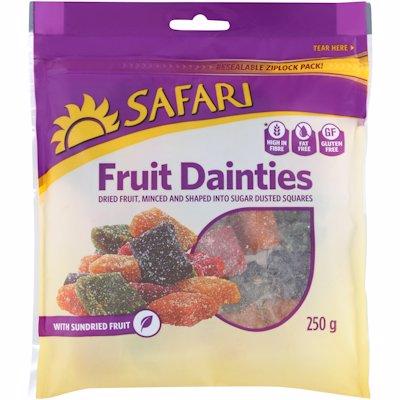 SAFARI FRUIT DAINTY CUBE 250G