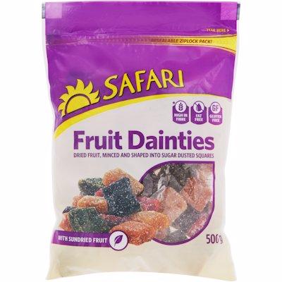 SAFARI FRUIT DAINTY CUBES 500G