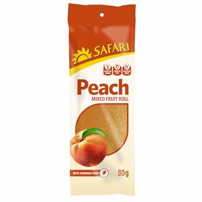 SAFARI FRUIT ROLL PEACH 80G
