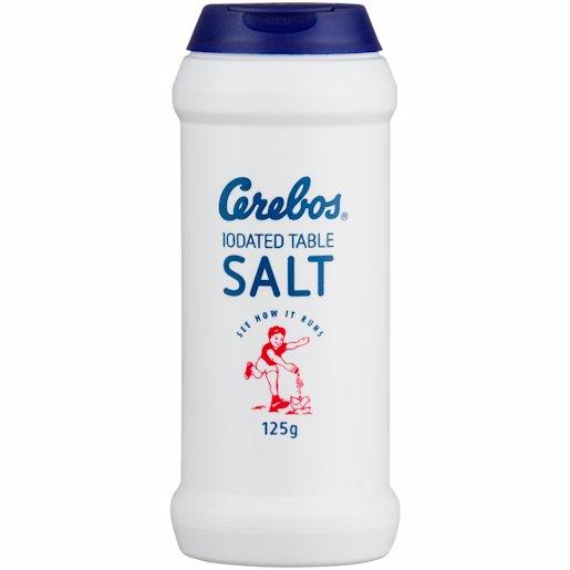 CEREBOS IOD T/SALT FLASK 125G