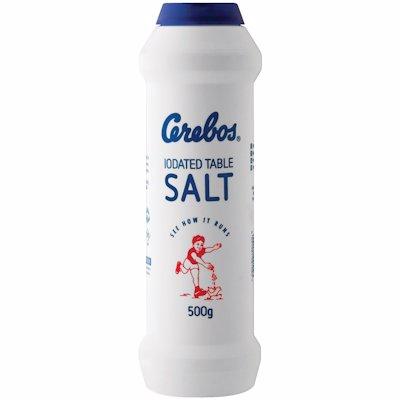 CEREBOS IODATED SALT FLASK (BLUE) 500G