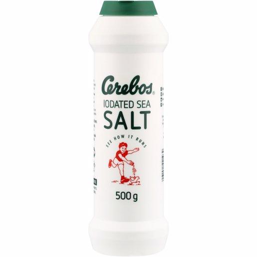 CEREBOS SALT IOD SEA FLASK 500G