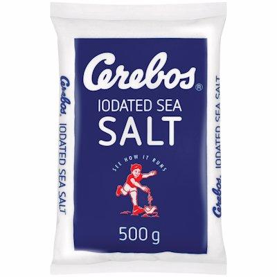 CEREBOS IODATED SALT POLY BAG (BLUE) 500GR