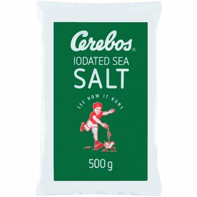 CEREBOS IODATED SALT POLY BAG (GREEN) 500G