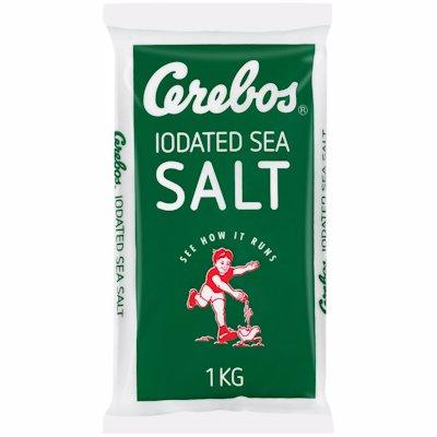 CEREBOS IODATED SALT POLY BAG (BLUE) 1KG