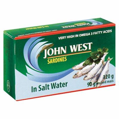 JOHN WEST SARDINES BRINE 120GR