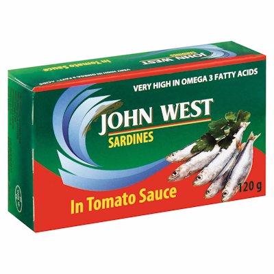 JOHN WEST SARDINES TOMATO 120GR