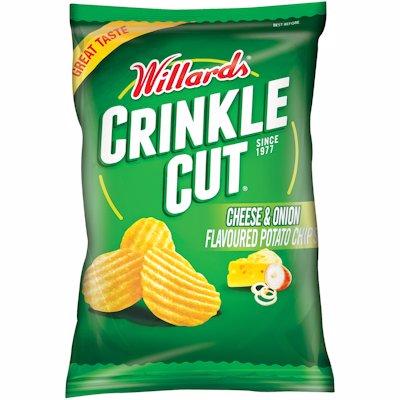 WILLARDS CRINKLE CUT CHEESE & ONION 125G
