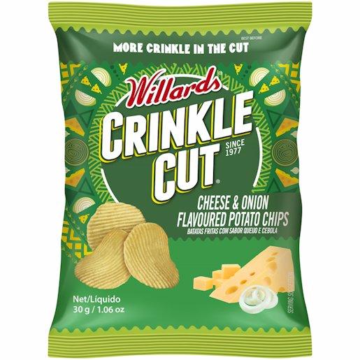 WILLARDS C/CUT CHEES&ONIO 30GR