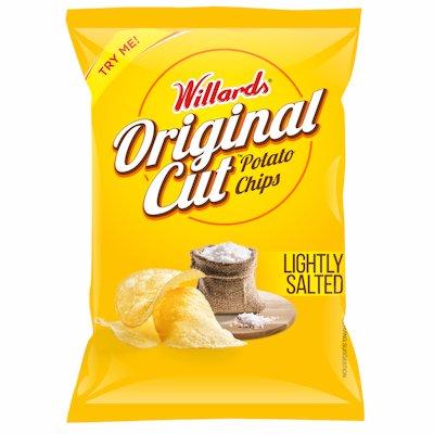 WILLARDS ORIGINAL CUT LIGHTLY SALTED 125G