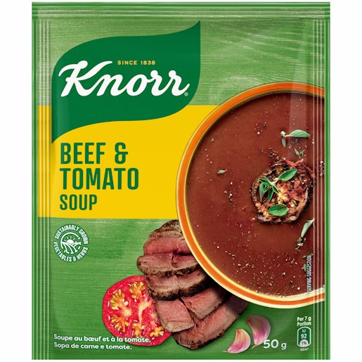 KNORR SOUP BEEF & TOMATO 50GR