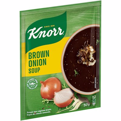 KNORR PACKET SOUP BROWN ONION 50G