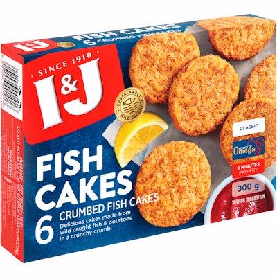 I&J TASTY FISH CAKES 300G