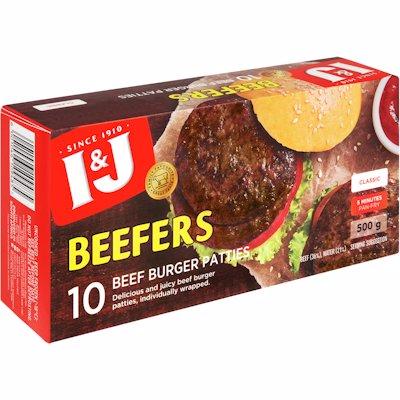 I&J BEEFERS 500G