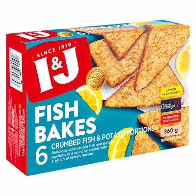 I & J FISH BAKES LEMON FLAVOURED 360G