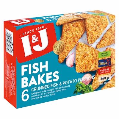 I & J FISH BAKES GARLIC & PARSLEY 360GR