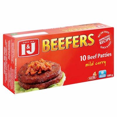 I & J BEEFERS MILD CURRY 500GR