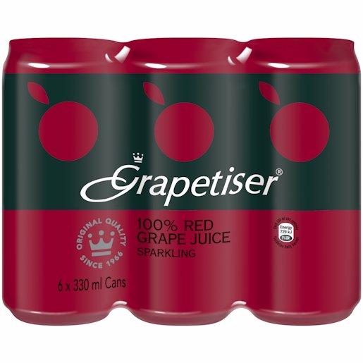 GRAPETISER RED 330ML 6PK