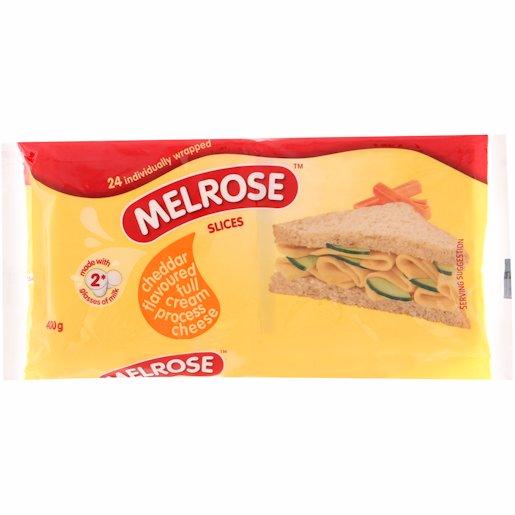 MELROSE CHEESE  SLICE CHEDDAR 400GR