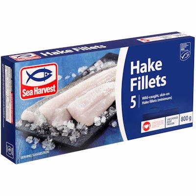 S/H HAKE FILLETS PRIME 800G