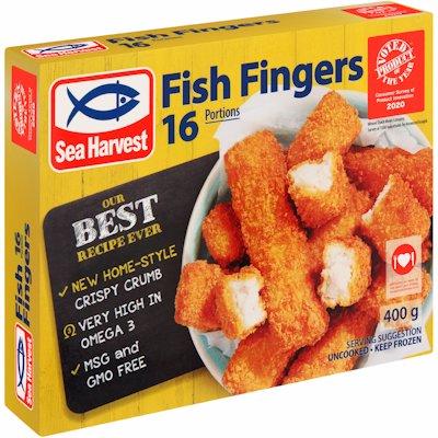 SEA HARVEST 16 FISH FINGERS 400G