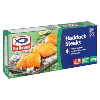 SEA HARVEST 4 HADDOCK STEAKS 500G