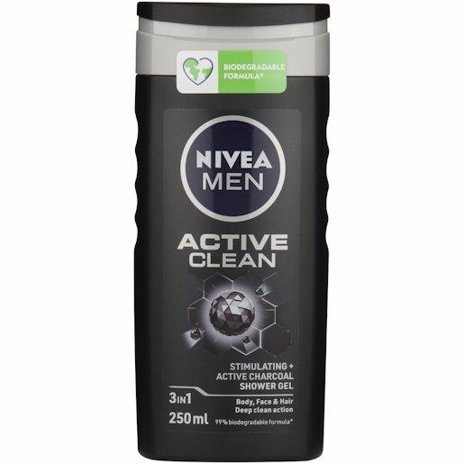 NIVEA SH/GEL ACTIVE CLEAN 250ML