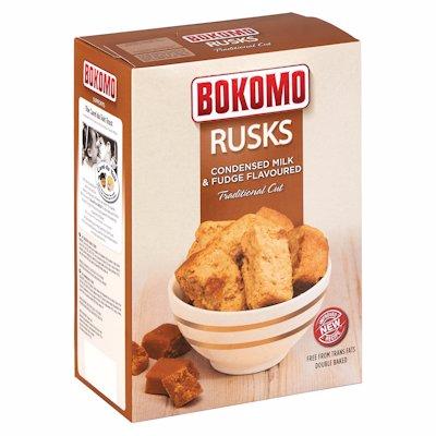 BOKOMO RUSKS CONDENSED MILK & FUDGE 450G