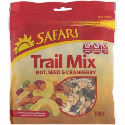 SAFARI TRAIL MIX NUT SEED & CRANBERRY 300G