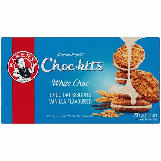 BAKERS CHOCKITS WHITE CHOC 200G