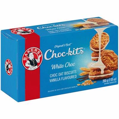 BAKERS CHOC-KITS WHITE CHOCOLATE 200G