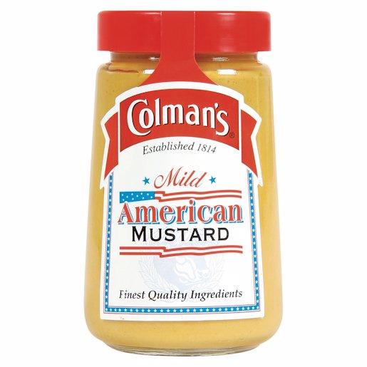 COLMANS MILD AMERICAN MUSTARD 167G