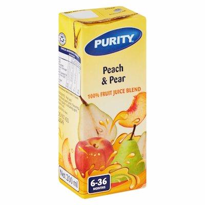 PURITY JCE PEACH & PEAR 200ML