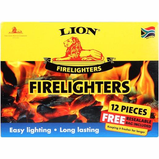 LION MATCH FIRELIGHTERS 12'S